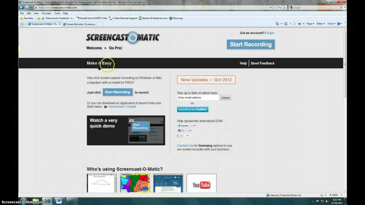 Screencast-o-matic Review - YouTube