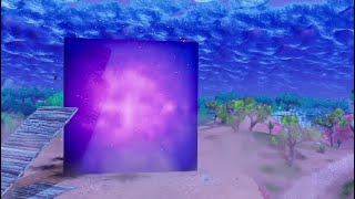 Massive cube spawned into fortnite Full Event + New cube glitch