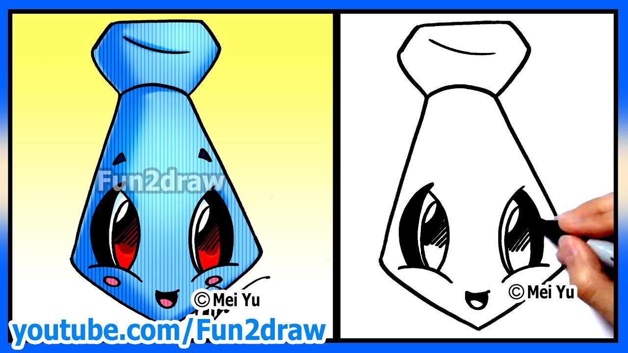 How to Draw Father's Day - Easy Tie - Fun2draw Cartoon ...