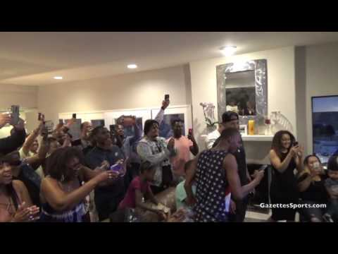 Jordan Bell Draft NBA Party, Golden State Warriors