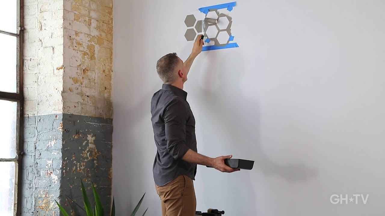 Modern wall stenciling 101 youtube amipublicfo Images