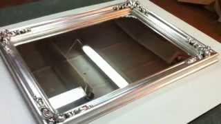 Золочение зеркала. Поталь серебро.Изготовление рам для зеркал.(, 2015-04-25T22:00:20.000Z)