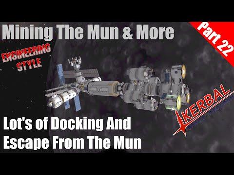 Kerbal Space Program - Mining the Mun & more Part 22