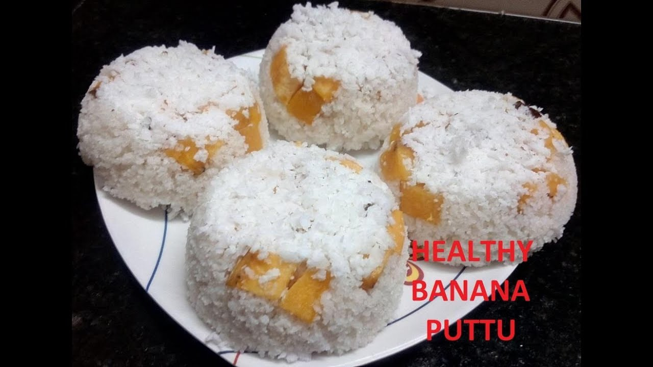 healthy banana puttu (Malayalam) - YouTube