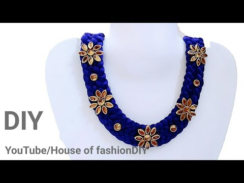 How To Make Silk Thread Necklace At Home..!
