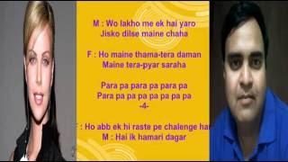 Karaoke Jeevan Ke har Mod Pe Mil only for male singer