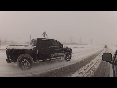 Lake Effect Snow Storm   Blizzard Video - Watertown, NY - 4 To 5 Foot Accumulations! 1.10.2015