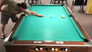 Guy Does Several One Shot Pool Tricks   1011511