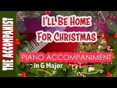 I'll Be Home For Christmas - Piano Accompaniment - Karaoke