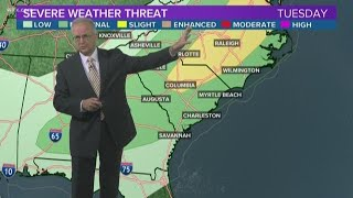 Election day weather forecast in South Carolina