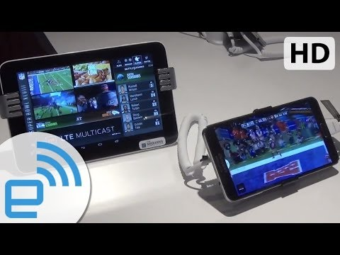 Verizon LTE Multicast Super Bowl Broadcast demo | Engadget