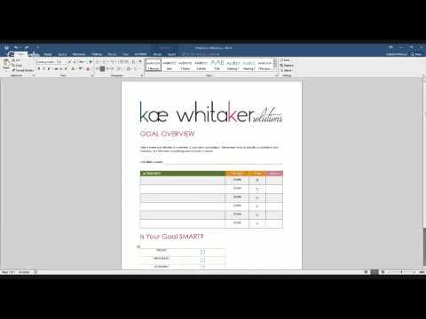 SMART Goals Worksheet Walkthrough