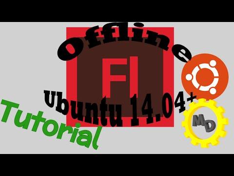 How to run offline flash files in ubuntu 14.04+