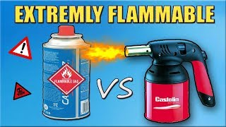 Experiment GAS TORCH VS GAS CAN - Awesome Big Explosion Caught on Camera