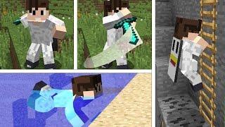 Minecraft: GERÇEKÇİ HAREKETLER MODU!