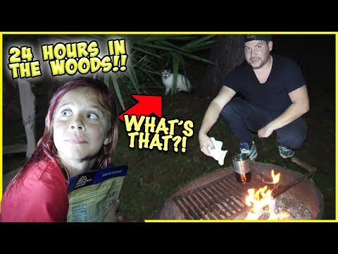 STRANDED IN THE WOODS FOR 24 HOURS!! WILL WE SURVIVE?!