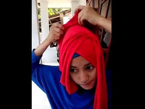 Tutorial Hijab Pashmina Kaos Ukuran Pendek Iffah Youtube