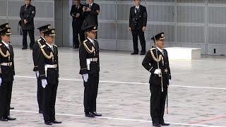 儀仗隊の栄誉礼 - 平成28年 千葉県警察年頭視閲