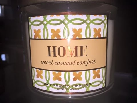 Candle Review Bbw Home Sweet Caramel Comfort