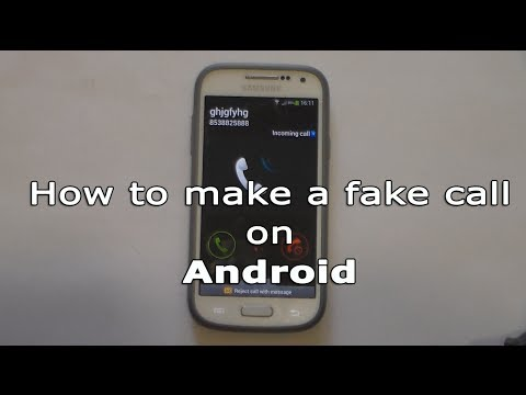 How to make a fake call on Android YouTube
