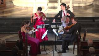 "Attacca Quartet plays Haydn Op. 76 no. 2 ""Fifths"" -- Second Movement"