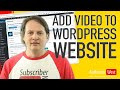 How to add video to your Wordpress website