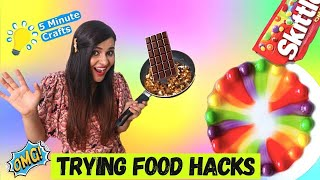 Trying DUMB Food HACKS by 5 Minute Crafts