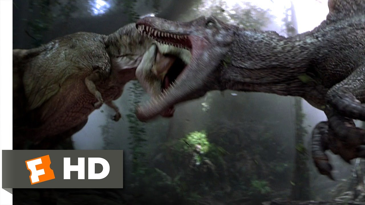 Jurassic Park 3 310 Movie CLIP  Spinosaurus vs TRex