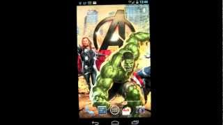 The Avengers Live Wallpaper Android App Review (FREE App) - CrazyMikesapps