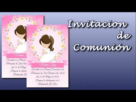 Cómo Hacer Una Invitación Para Comunión Gratis First