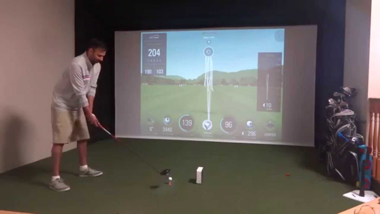 Testing A Drive On The Skytrak Golf Analyzer Launch