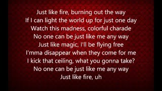 Video Pink - Just Like Fire (Lyrics) download MP3, 3GP, MP4, WEBM, AVI, FLV Juni 2018