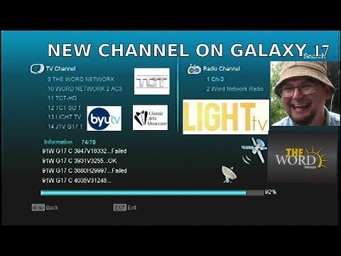 C-Band Preset Scan 91w Galaxy 17 Satellite FTA (Free To Air Tv) NEW CHANNEL THE LIGHT