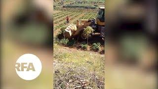 Bulldozer Destroys Crops in China Land Dispute | Radio Free Asia (RFA)