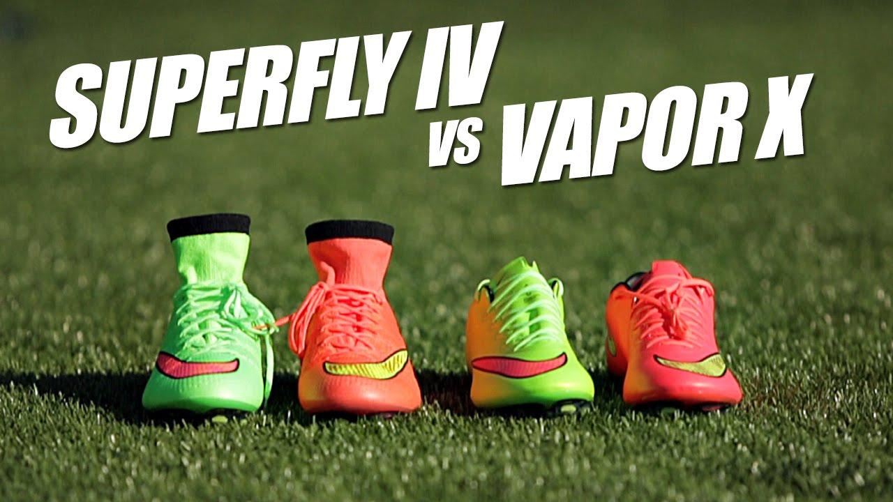 finest selection 42b36 8824d Nike Mercurial Superfly IV vs Vapor X comparison