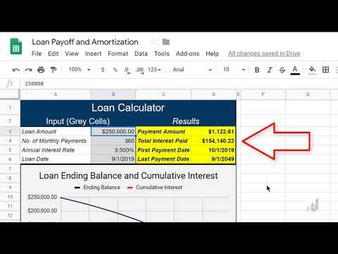 Google Sheets Loan Calculator And Interactive Amortization Table