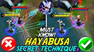 All Hayabusa Players Must Know About This Secret Technique! | Mobile Legends