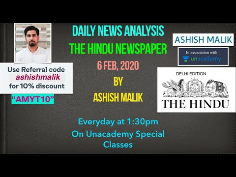 6th Feb 2020- THE HINDU NEWSPAPER DISCUSSION FOR UPSC CSE- 2020 - Part 3
