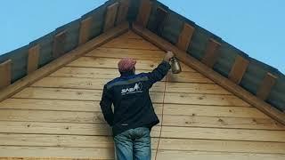 Дневник стройки дни 105-106. Покраска деревянного дома.