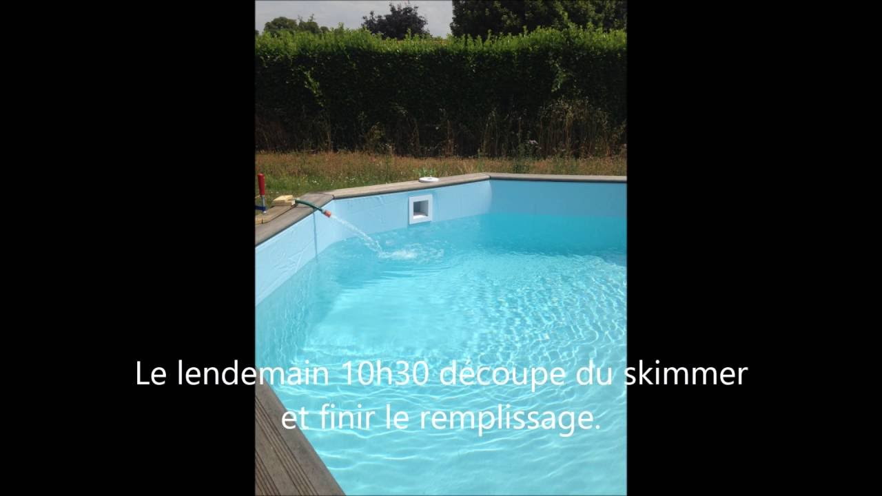 montage du liner pour piscine bois octo gardipool 420m 35 et 45 piscine et jardin - Liner Pour Piscine Intex Tubulaire
