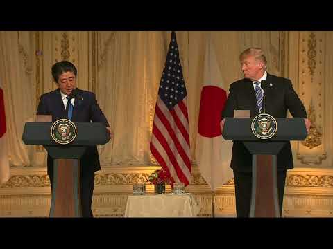 Trump, Abe Express Hope for Successful U.S.-North Korean Summit