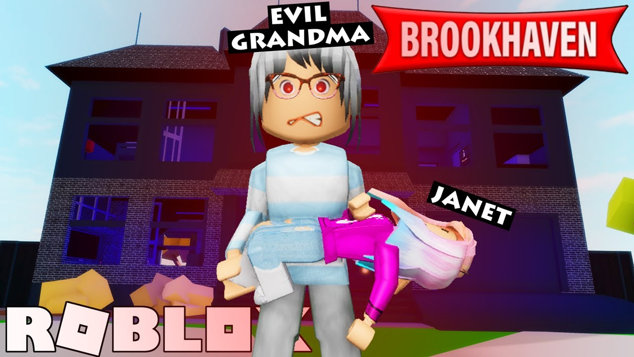 Download Janet Gets Adopted by Evil Grandma in Brookhaven!   Roblox