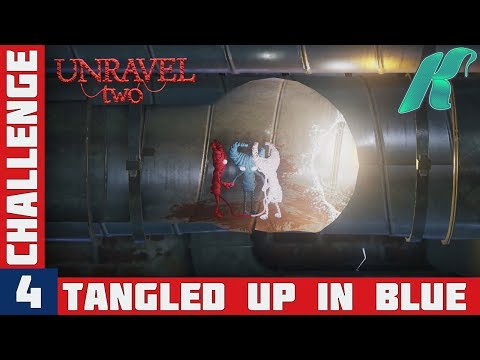 UNRAVEL 2 - Challenge 4 - Tangled Up In Blue Gameplay Walkthrough