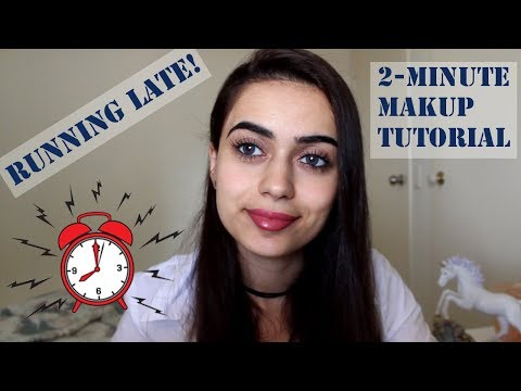 LATE FOR WORK?  2 MINUTE MAKEUP TUTORIAL | Cruelty Free |  Alina Valiant