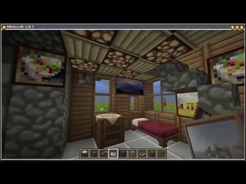 Como hacer una casa automatica con chimenea en minecraft 1 - Como construir una chimenea ...