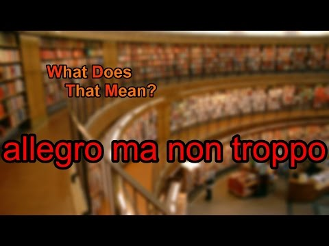 What does allegro ma non troppo mean?