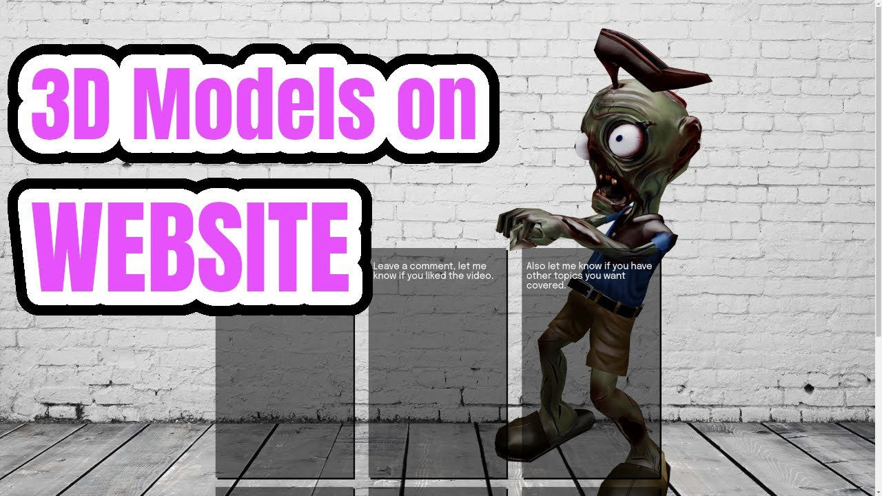 Adding a 3D Model to a Website in 5 minutes (or less)