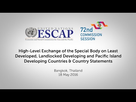 CS72: High-Level Exchange on LDC, LLDC and Pacific Island Developing Countries & Country Statements