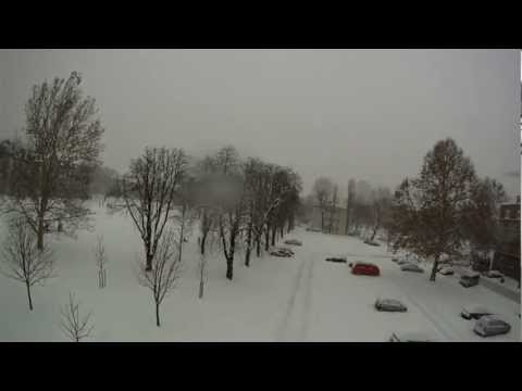 Zagreb and snow 2012