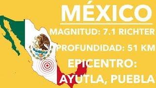 TERREMOTO EN MÉXICO DE 7.1 | 19 DE SEPTIEMBRE DE 2017